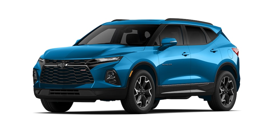 Chevrolet Blazer 2021 color azul amalfi